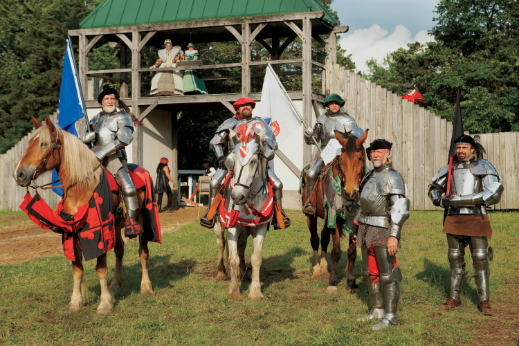 Jousters at the Tennessee Renaissance Festival