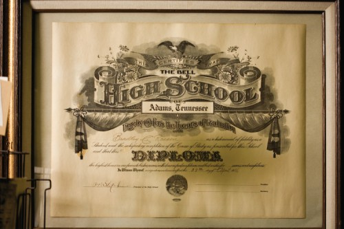 Old Bell High School Diploma, Adams, TN