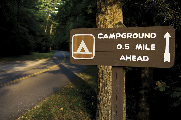 Elkmont Campground in Tennessee's Smoky Mountains National Park