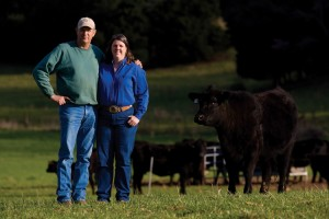 David and Margie Hunter, farm, Sparta, TN