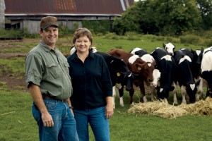 John and Lorie Mitchell, cows, dairy farm, Grainger County, TN