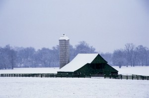 winter, barn, farm, Franklin Road, Cal Turner, Nashville, TN