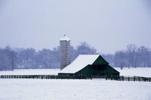 winter, barn, farm, Franklin Road, Cal Turner, Nashville, TN