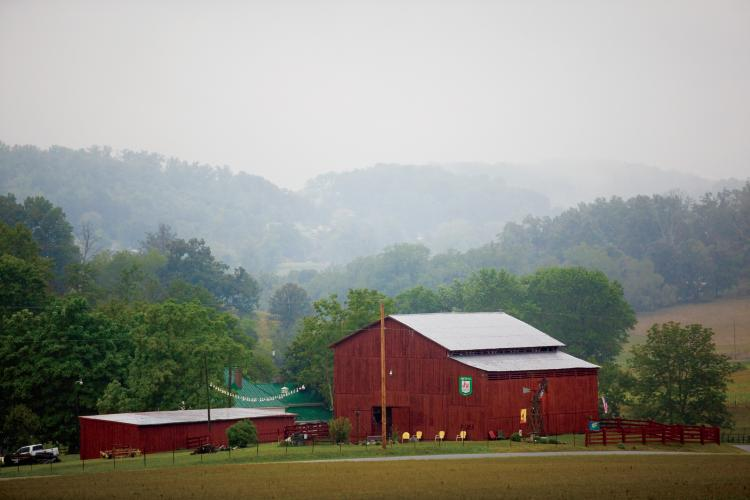 Red Barn at Bacon Century Farm in Jonesborough, TN