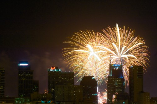 Fireworks in Nashville on the Fourth of July