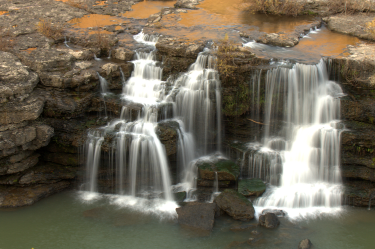 Rock Island State Park waterfalls, Caney Fork River, Tennessee