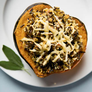 Baked Stuffed Acorn Squash recipe