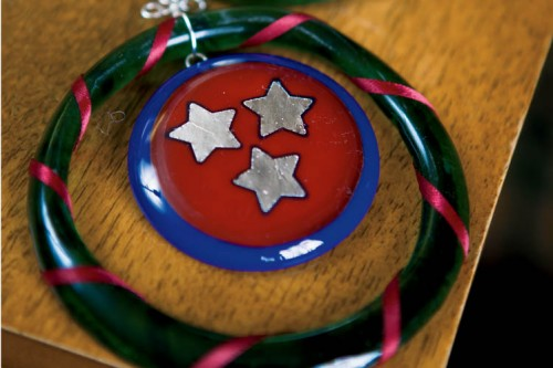 Tennessee ornament by Susan Parry, Glass Artist