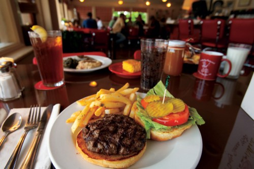 Country Boy Restaurant, Leiper's Fork, Tennessee, Burger