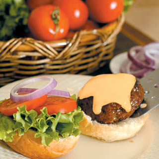 Beef Classic Burger with Cheese Sauce