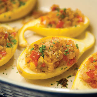 Garden-Stuffed Yellow Squash Recipe