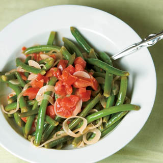 Green Bean, Tomato and Vidalia Onion Salad