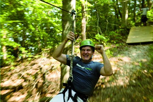 Ziplining in Tennessee at Adventureworks, Kingsport, TN
