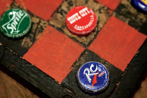 Bottlecap Checkerboard at Casey Jones Village in Jackson, TN
