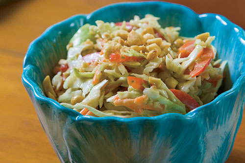 Crunchy Cabbage Peanut Slaw