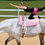 Monroe County Girls Learn Vaulting, Gymnastics on Horseback
