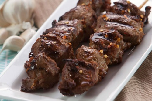 Peanut Pork Kabobs