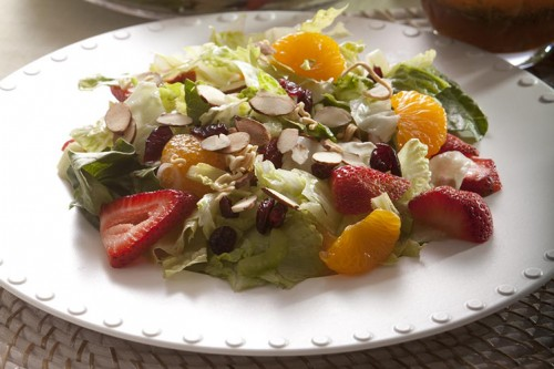 Mandarin Strawberry Oriental Salad