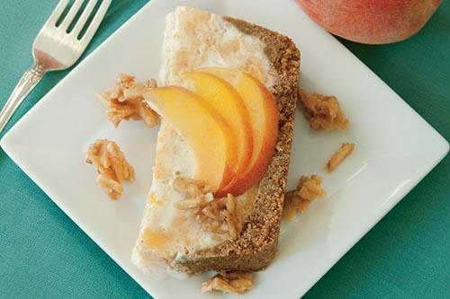 Peaches N Cream Freezer Pie