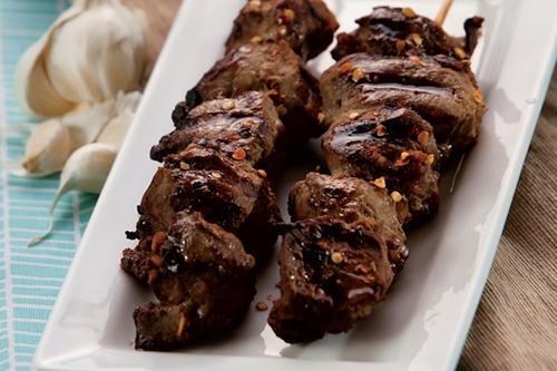 Pork Peanut Kabobs