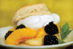 Peach Blackberry Shortcakes Recipe