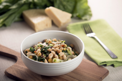 Turnip Greens and White Beans Saute