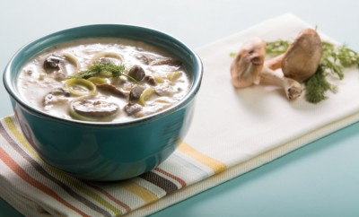 Triple Mushroom and Leek Soup