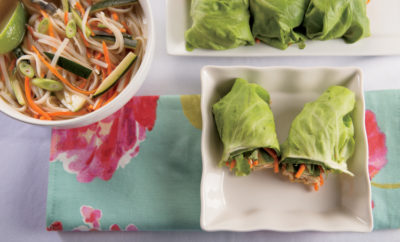 Faux Pho and Chicken Salad Lettuce Wraps