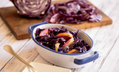 Red Cabbage, Apple and Caraway Saute